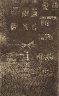 'The Dance House: Nocturne', 1889, Hunterian Art Gallery, HAG 46997